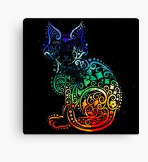 Inked Cat Canvas Print