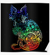 Inked Cat Poster
