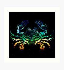 Inked Crab Art Print