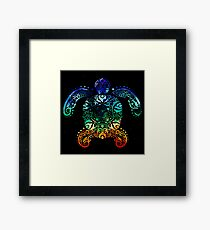 Inked Sea Turtle Framed Print