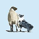 "Australian Shepherd ~ ""One Tough Sheepdog"" painting by Barbara Applegate"