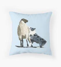 "Australian Shepherd ~ ""One Tough Sheepdog"" painting Throw Pillow"