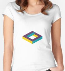 Impossible box illustration Women's Fitted Scoop T-Shirt