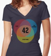 Venn Diagram: Life, the Universe & Everything Shirt mit V-Ausschnitt