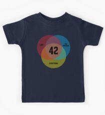 Venn Diagram: Life, the Universe & Everything Kids Clothes