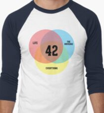 Venn Diagram: Life, the Universe & Everything Men's Baseball ¾ T-Shirt