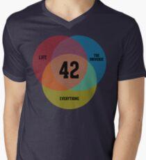 Venn Diagram: Life, the Universe & Everything Men's V-Neck T-Shirt