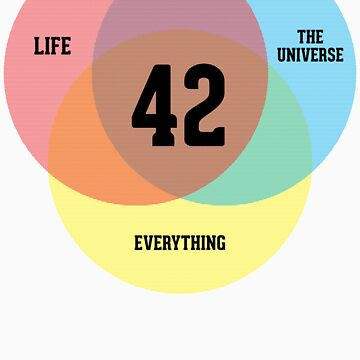 Venn Diagram: Life, the Universe & Everything by BoomShirts