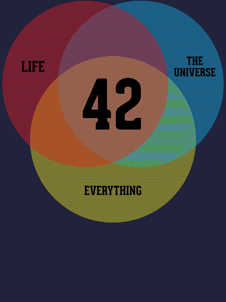 Venn Diagram: Life, the Universe & Everything by BoomShirts