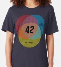 Venn Diagram: Life, the Universe & Everything Slim Fit T-Shirt
