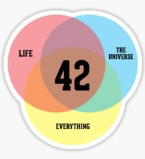 Venn Diagram: Life, the Universe & Everything Sticker