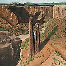 Spider Rock Arizona USA ~ Oil Painting by Barbara Applegate