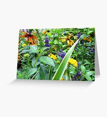 Jungle flowers Greeting Card