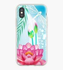 Lotus and Dragonfly iPhone Case
