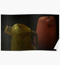 Two Oil Canisters  Poster