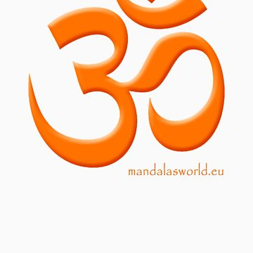 Buddhist Om Mantra Orange by Phylosoft