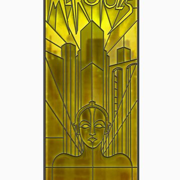Metropolis Poster in Stained Glass by zoidberg69