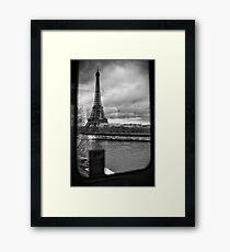 Travel BW - Paris Eiffel Tower III Framed Print