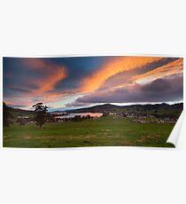 Sunset over Cygnet, Tasmania Poster