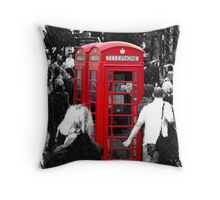 Red Phonebox Throw Pillow