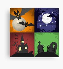 Halloween - 4 Boxes Canvas Print