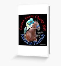 American Pharoah Grand Slam Champ 2015 Greeting Card