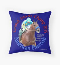 American Pharoah Grand Slam Champ 2015 Throw Pillow