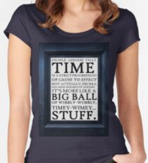 Wibbly-Wobbly, Timey-Wimey.. Stuff! Women's Fitted Scoop T-Shirt