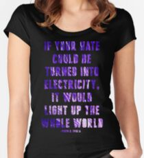 Light Up the Whole World-Tesla Women's Fitted Scoop T-Shirt