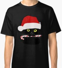 Christmas Cat Closeup Classic T-Shirt
