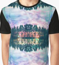 Trippy rainbow forest Graphic T-Shirt