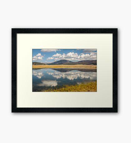 Jemez Lake in the Valles Grande Framed Print