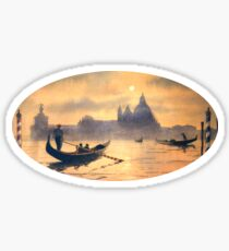 Sunset On The Grand Canal Venice Sticker