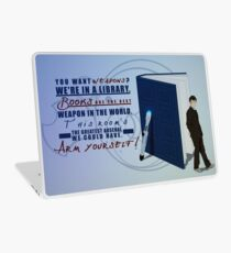 Books are the best weapon in the world Laptop Skin