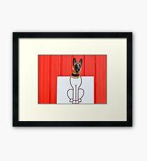 Cartoon dog Framed Print