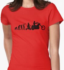 Motorcycle Evolution Womens Fitted T-Shirt