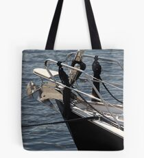 anchor on a sailing yacht Tote Bag