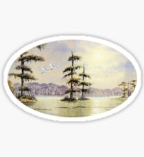 Egrets Over Wakulla River Florida Sticker