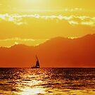 Sun sets on English Bay by stevefinn77