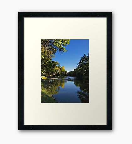 Splash of Fall Framed Print