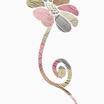 AN Yarn Flower by emilybieman