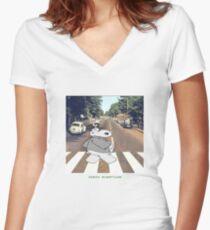 Chicot the Hippo, Classic Album - Shabby Lane Women's Fitted V-Neck T-Shirt