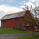 barn in fall by Penny Fawver