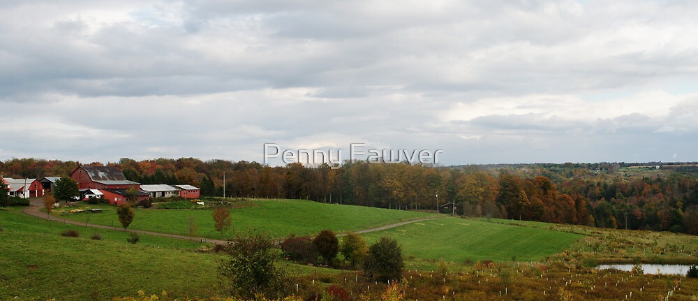 beautiful farm in fall by Penny Fawver