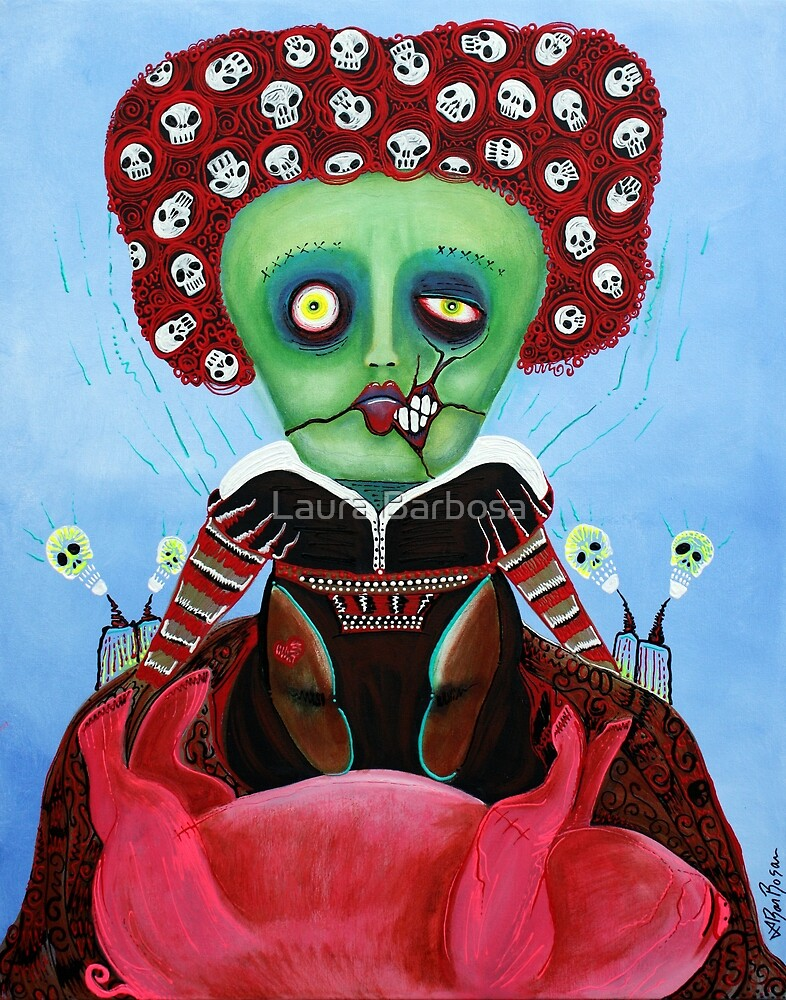 Iracebeth of Crims - Red Queen - A Warm Pig Belly by Laura Barbosa