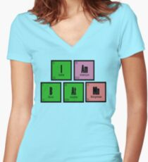 I AM B AT MN Women's Fitted V-Neck T-Shirt