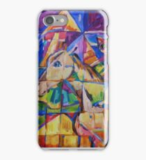 Cubist Cat on Horse iPhone Case/Skin