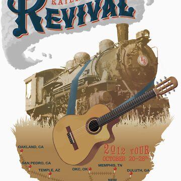 Railroad Revival T-shirt by astroart