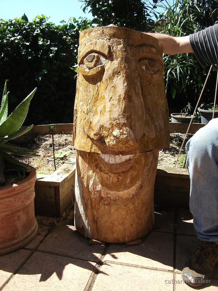 """ tree man"" made from our fallen tree by catherine walker"