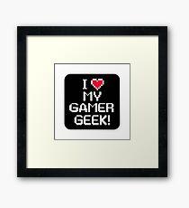 Gamer geek Framed Print